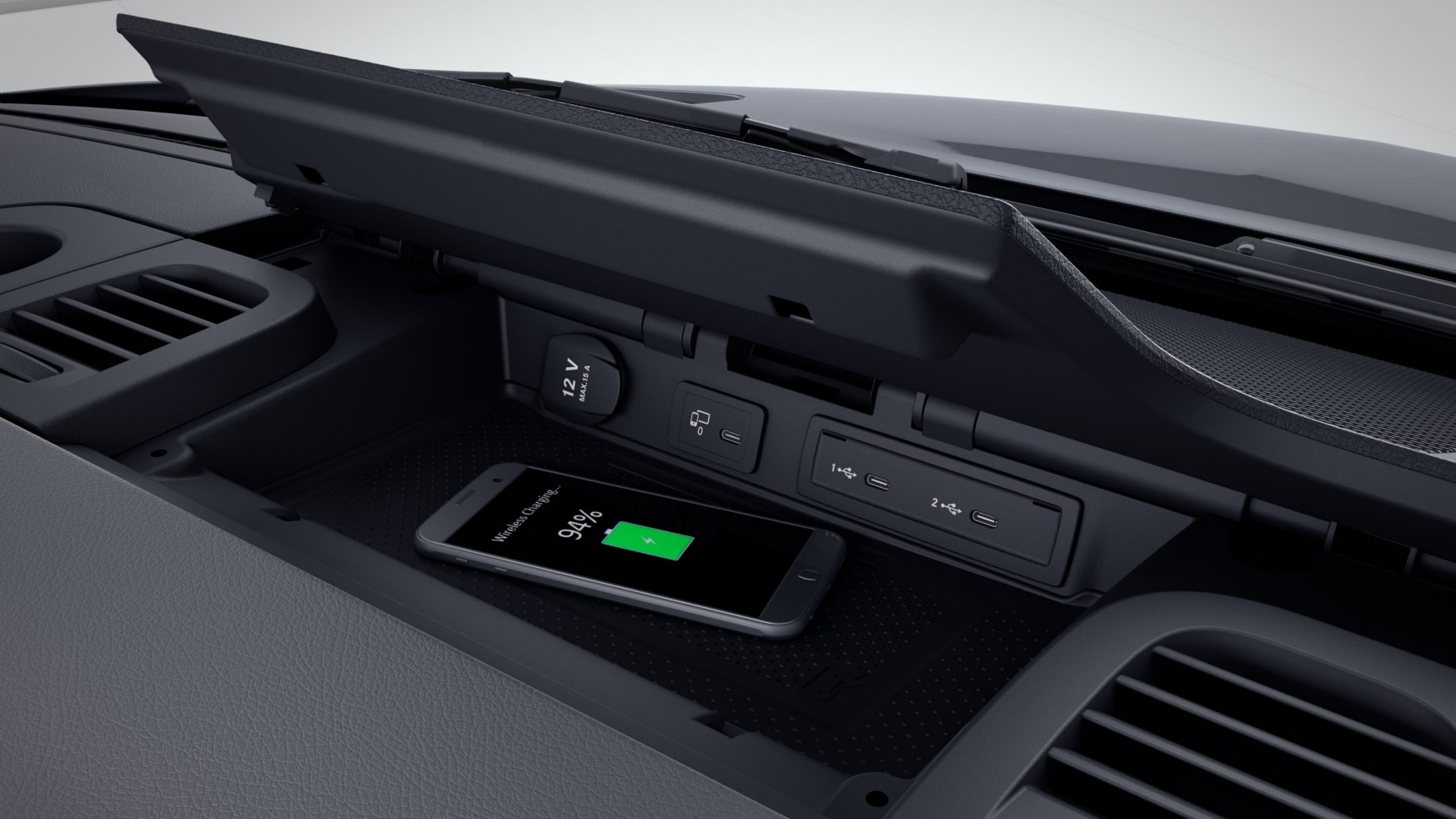 Sprinter Pritsche, Ablage für Smartphones incl. Wireless Charging